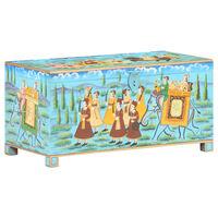 vidaXL Ladă de depozitare pictată, 80x40x40 cm, lemn masiv de mango