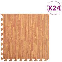 vidaXL Saltele de exerciții 24 buc. fibră lemnoasă 8,64 ㎡ spumă EVA