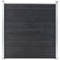 vidaXL Gard de grădină, gri, 180 x 186 cm, WPC