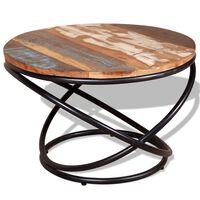 vidaXL Măsuță de cafea, 60 x 60 x 40 cm, lemn masiv reciclat
