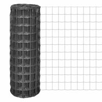 vidaXL Euro gard, gri, 25 x 1,7 m, oțel