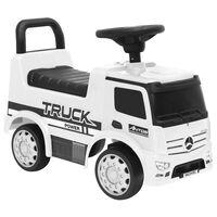 vidaXL Mașinuță pentru pași Mercedes-Benz, albă