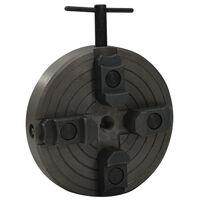 vidaXL Mandrină pentru lemn 4 fălci conexiune M18 negru 150x63 mm oțel