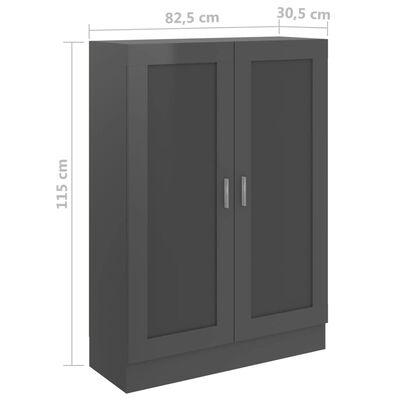 vidaXL Bibliotecă, gri extralucios, 82,5 x 30,5 x 115 cm, PAL
