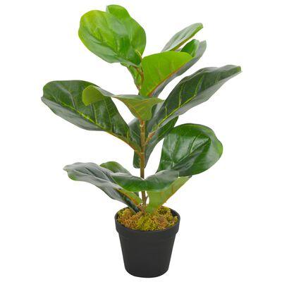 vidaXL Plantă artificială ficus cu ghiveci, verde, 45 cm