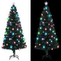 vidaXL Brad de Crăciun artificial cu suport/LED, 180 cm, 220 ramuri