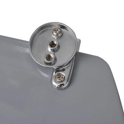 vidaXL Capac WC, MDF, model pietre