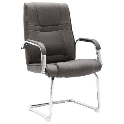 vidaXL Scaun de birou tip consolă, gri, material textil