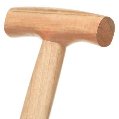 vidaXL Lopată de săpat grădină, mâner formă T, oțel/lemn esență tare