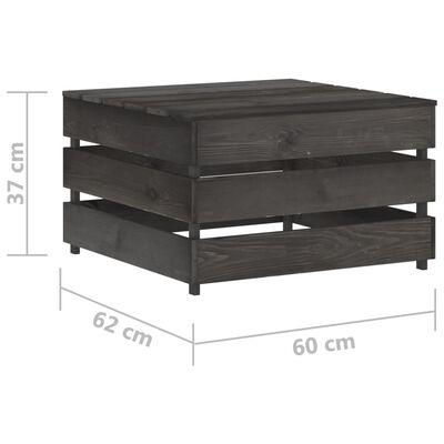 vidaXL Set mobilier grădină cu perne, 7 piese, gri, lemn tratat
