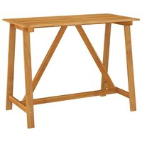 vidaXL Masă bar de grădină, 140 x 70 x 104 cm, lemn masiv de acacia