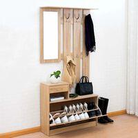 Unic Spot RO, Set mobilier hol Filio, stejar alb, 90x24x75cm