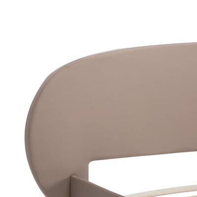 vidaXL Cadru de pat, cappuccino, 180 x 200 cm, piele ecologică