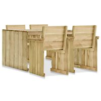 vidaXL Set mobilier de exterior, 5 piese, lemn de pin tratat