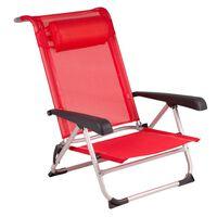Bo-Camp Scaun de plajă, aluminiu, roșu, 1204793