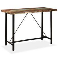 vidaXL Masă de bar, 150 x 70 x 107 cm, lemn masiv reciclat