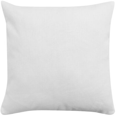 vidaXL Huse de pernă cu aspect de pânză, 50 x 50 cm, alb, 4 buc.