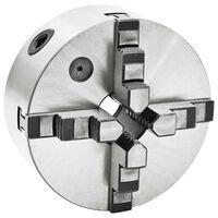 vidaXL Mandrină de strung cu 4 fălci, 160 mm, oțel
