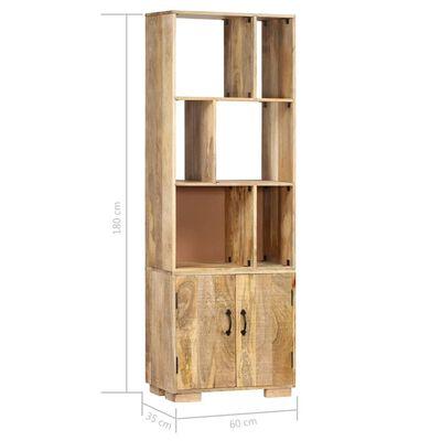 vidaXL Bibliotecă, 60 x 35 x 180 cm, lemn masiv de mango