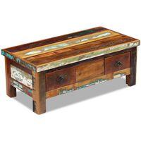 vidaXL Măsuță de cafea cu sertare, 90x45x35 cm, lemn solid reciclat