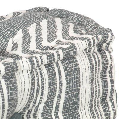 vidaXL Fotoliu puf modular, gri cu dungi, material textil