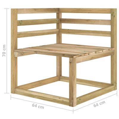 vidaXL Set mobilier de grădină, 5 piese, lemn de pin verde tratat