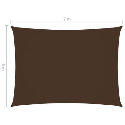 vidaXL Pânză.parasolar, maro, 6x7 m, țesătură oxford, dreptunghiular