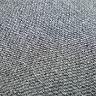 vidaXL Set fotoliu și taburet, 2 piese, gri deschis, material textil
