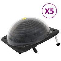 vidaXL Încălzitor solar de piscină 5 buc. 75x75x36cm HDPE aluminiu