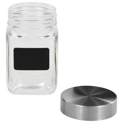 vidaXL Borcane de depozitare cu etichetă, 12 buc., 300 ml