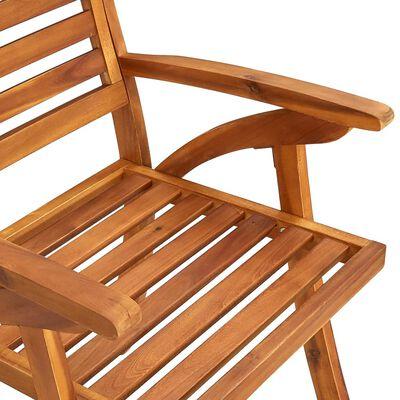 vidaXL Scaune de grădină cu perne, 4 buc., lemn masiv de acacia