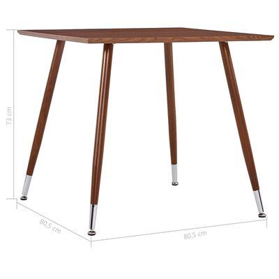 vidaXL Masă de bucătărie, maro, 80,5 x 80,5 x 73 cm, MDF
