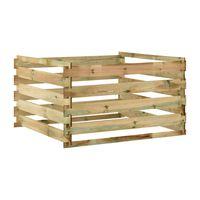 vidaXL Compostor de grădină din șipci 120x120x70 cm lemn de pin tratat