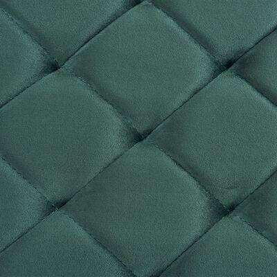 vidaXL Bancă, verde, 97 cm, țesătură din catifea și oțel inoxidabil