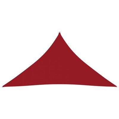 vidaXL Parasolar, roșu, 4x5x5 m, țesătură oxford, triunghiular