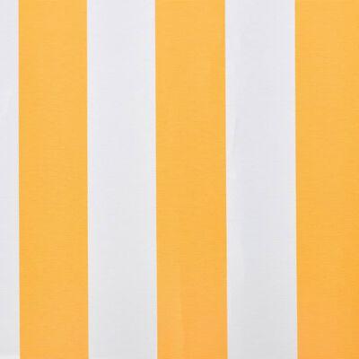 vidaXL Pânză copertină Galben floarea-soarelui&alb 6x3 m (cadrul nu este inclus)