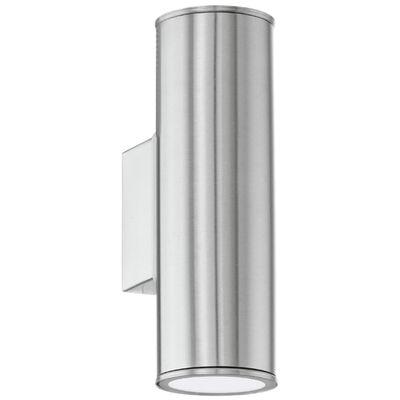 """409638 EGLO Lampă de perete exterior LED """"Riga"""" argintiu 94107"""