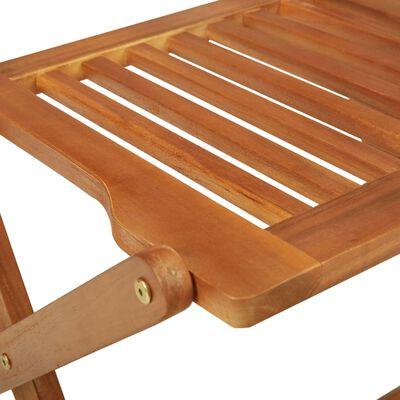 vidaXL Set mobilier grădină, pliabil, 3 piese, lemn masiv acacia