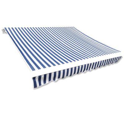 vidaXL Pânză de copertină, albastru și alb, 450 x 300 cm