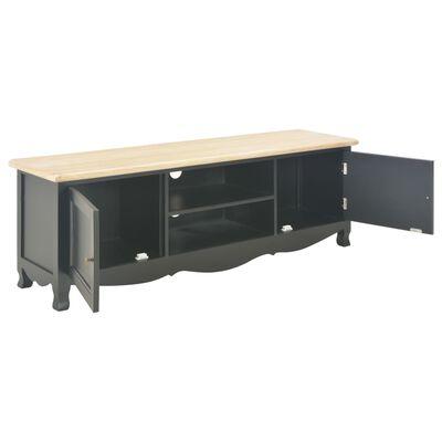 vidaXL Comodă TV, negru, 120 x 30 x 40 cm, lemn