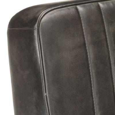 vidaXL Scaun fotoliu tip consolă, gri uzat, piele naturală