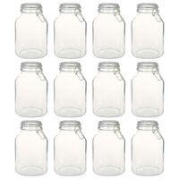 vidaXL Borcane din sticlă cu închidere ermetică, 12 buc., 3 L