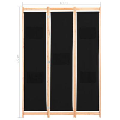 vidaXL Paravan de cameră cu 3 panouri, 120x170x4 cm, textil