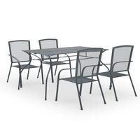 vidaXL Set mobilier de grădină, 5 piese, antracit, oțel
