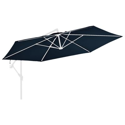 vidaXL Pânză de schimb umbrelă de soare în consolă, albastru, 350 cm