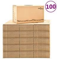 vidaXL Cutii pentru mutare din carton XXL 100 buc. 60 x 33 x 34 cm