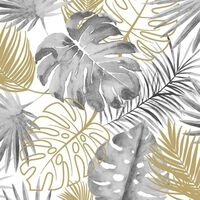 DUTCH WALLCOVERINGS Tapet model frunze Monstera, negru