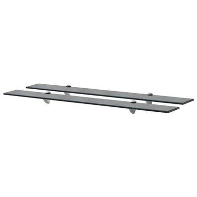 vidaXL Rafturi suspendate, 2 buc., 90 x 20 cm, sticlă, 8 mm
