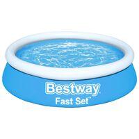 Bestway Piscina gonflabilă Fast Set, albastru, 183x51 cm, rotundă