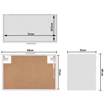 vidaXL Dulap suspendat, alb extralucios, 60 x 31 x 40 cm, PAL
